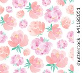 watercolor seamless pattern... | Shutterstock . vector #641182051