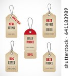 vector stickers  price tag ... | Shutterstock .eps vector #641183989