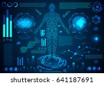 abstract technology concept... | Shutterstock .eps vector #641187691