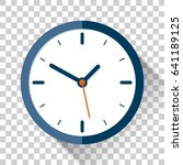 clock icon in flat style  timer ... | Shutterstock .eps vector #641189125