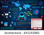 infographic abstract technology ... | Shutterstock .eps vector #641192881