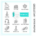 simple set of chemical related... | Shutterstock .eps vector #641193385
