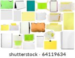 three slices of paper isolated... | Shutterstock . vector #64119634