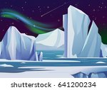 vector illustration arctic... | Shutterstock .eps vector #641200234