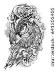 beautiful illustration with owl.... | Shutterstock . vector #641203405