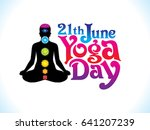 abstract artistic yoga day... | Shutterstock .eps vector #641207239