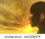 concept or conceptual 3d... | Shutterstock . vector #641208379