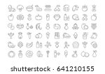 set line icons in flat design... | Shutterstock . vector #641210155