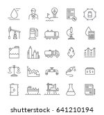set line icons with open path... | Shutterstock . vector #641210194