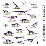 set  silhouettes  dino...   Shutterstock .eps vector #641210329