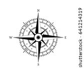 compass wind rose hand drawn... | Shutterstock .eps vector #641214319