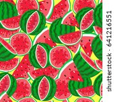 the pattern of watermelons | Shutterstock .eps vector #641216551