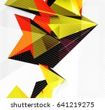 3d triangles and pyramids ... | Shutterstock . vector #641219275