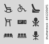 seat icons set. set of 9 seat... | Shutterstock .eps vector #641220691