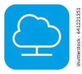 cloud computing isolated icon | Shutterstock .eps vector #641221351