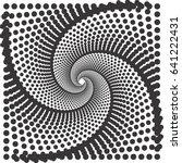 halftone vector pattern or... | Shutterstock .eps vector #641222431
