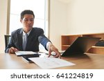 asian businessman working with... | Shutterstock . vector #641224819