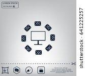 mail tablet  vector illustration | Shutterstock .eps vector #641225257