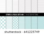 polka dot and diagonal and... | Shutterstock .eps vector #641225749