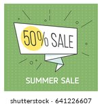 summer sale banner. big...