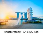singapore july 9  2016  merlion ... | Shutterstock . vector #641227435