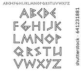 vector outline font stylized as ... | Shutterstock .eps vector #641231881