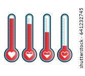 love thermometer. vector... | Shutterstock .eps vector #641232745