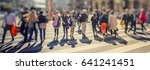 crowd of anonymous people... | Shutterstock . vector #641241451