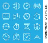 second icons set. set of 16... | Shutterstock .eps vector #641243131