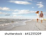 summer time and two lovers on... | Shutterstock . vector #641255209