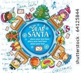 happy children writing letters... | Shutterstock .eps vector #64125844