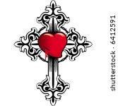 cross heart | Shutterstock .eps vector #6412591
