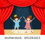abstract children's theater.... | Shutterstock .eps vector #641261611