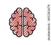 human brain symbol | Shutterstock .eps vector #641261674