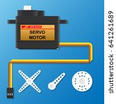 digital servo motor in hobby toy | Shutterstock .eps vector #641261689