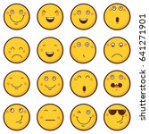 emoticon vector illustration.... | Shutterstock .eps vector #641271901