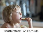 candid baby girl having... | Shutterstock . vector #641274331