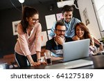 group of friends and fellow... | Shutterstock . vector #641275189