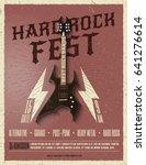 hard rock music festival flyer... | Shutterstock .eps vector #641276614