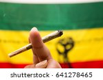 marijuana spliff | Shutterstock . vector #641278465