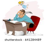 vector illustration of a writer ... | Shutterstock .eps vector #641284489