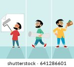 vector illustration of three... | Shutterstock .eps vector #641286601
