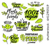 organic healthy logo labels ... | Shutterstock .eps vector #641290519