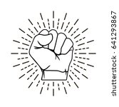 hand is clenched into a fist... | Shutterstock .eps vector #641293867