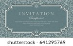invitation card vector design   ... | Shutterstock .eps vector #641295769