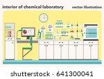 vector illustration of chemical ... | Shutterstock .eps vector #641300041