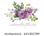 colorful floral collection with ... | Shutterstock . vector #641302789
