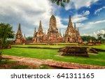 wat chaiwatthanaram is ancient... | Shutterstock . vector #641311165