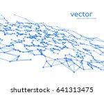 vector futuristic background... | Shutterstock .eps vector #641313475