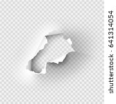 holes torn in paper on... | Shutterstock .eps vector #641314054